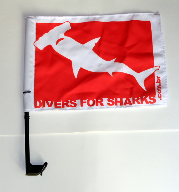 Bandeira para carro Divers for Sharks