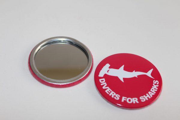Espelho de bolso redondo Divers for Sharks