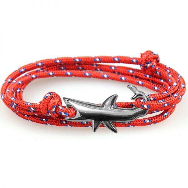 Pulseira tubarão e cordelete